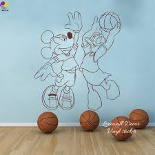 Minnie Mouse Easter Sticker Minnie Mouse Basketball Wall Sticker Animal Sport Wall