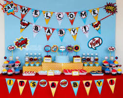 marvel baby shower birthday party baby shower printables by owliepowlie on etsy