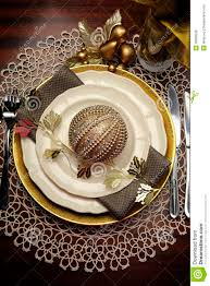 gold metallic theme christmas formal dinner table place setting