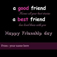 friendship day wishes for best friend with name