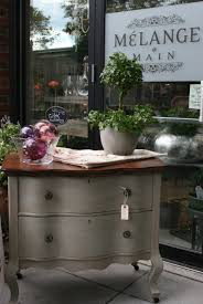 Chalk Paint Furniture Images by Refinished Oak Top Painted In French Linen Chalk Paint With Dark