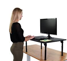 amazon com adjustable height standing desk w folding legs