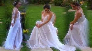 Whimsical Wedding Dress L U0027ezu Low Back Whimsical Chiffon Wedding Dress Youtube