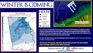 Weather Map Atlanta by Georgia Weather Winter Storm Watch Upgraded To Warning