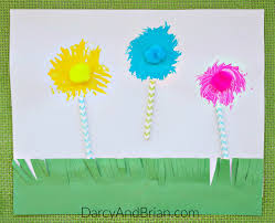dr seuss craft truffula trees fork painting life with darcy and