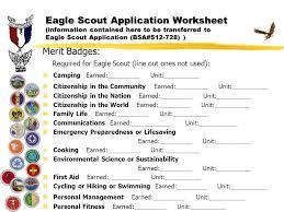 Emergency Preparedness Worksheet Eagle Scout Application Ppt