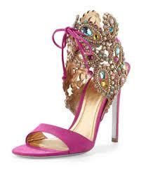 wedding shoes jeweled heels jeweled wedding shoes by rene caovilla shaadi bazaar