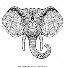 vector images illustrations and cliparts elephant from the front