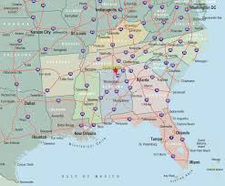 map of usa showing southern states map south usa cities millstonehills southern states of america
