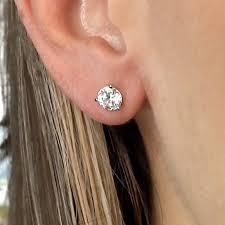 what size diamond earrings should i buy 6mm diamond earrings actual size earrings jewelry