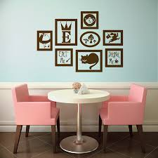 alice in wonderland vinyl wall decal frames kit with zoom