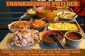 residence college thanksgiving potluck
