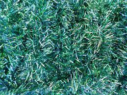 vintage green blue foil tinsel garland christmas tree decor 1960s