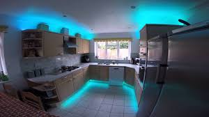 kitchen strip lighting rgb led strip lights in the kitchen youtube
