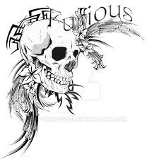 tribal skull and flowers by furious373 on deviantart