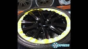 lexus gs 350 low tire lexus gs350 rims powderoated gloss black time lapse mounting a