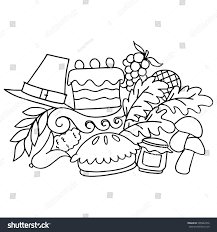 thanksgiving doodle draw vector stock vector 500942956