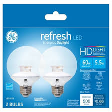 ge hd light refresh refresh daylight hd 60watt equivalent globe g25 led 2pk target