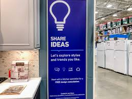 does lowes sell their kitchen displays photos comparing lowe s and home depot show why lowe s is better