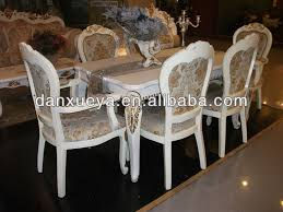 Royal Dining Room by Palace Solid Wood Long Dining Table Royal Luxury White Dining