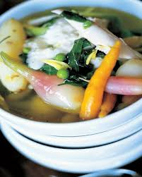 poached chicken and veg from jamieoliver eats