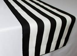 black and white striped table runner wedding table runner