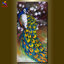 online get cheap paintings peacock knife aliexpress com alibaba