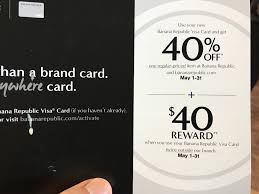 banana republic black friday coupon targeted banana republic gap old navy credit cards 40 reward