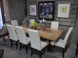 Faux Leather Dining Chairs With Chrome Legs American Leather Seams To Fit Home