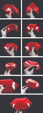 vitamini handmade diy origami vampire fangs