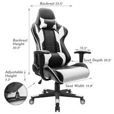 swivel leather gaming chair racing style high back office chair
