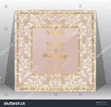 Exclusive Wedding Invitation Cards Luxury Wedding Invitation Card Haute Couture Stock Vector