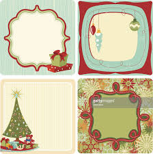 square retro christmas gift tags vector art getty images