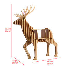 2016 deer wood furniture decoration for home table