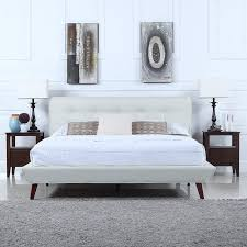 paulcryan platform bed with fabric headboard platform bed with