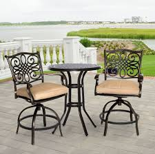 traditions 3 piece high bistro set traddn3pcsw br