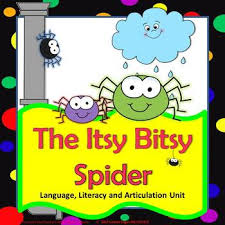itsy bitsy spider speech therapy language articulation unit tpt