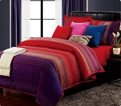 4pcs 3d beautiful life cotton queen king bedding set red purple