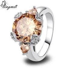aliexpress buy u7 classic fashion wedding band rings lingmei wedding band engagement rings heart pink cz silver ring