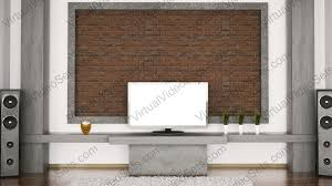 Tv Accent Wall by Magnificent Brick Wall Living Room Design Tv Wall Decoration For
