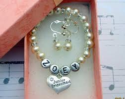 personalized wedding jewelry kids wedding jewelry etsy