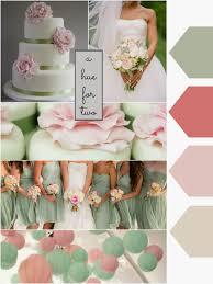 wedding colour scheme pastels light sage coral and light pink