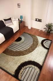 2 piece set circular pattern beige shag rug u0026 pad circular