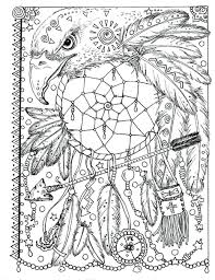 dream catcher coloring book pages pictures animal spirit fun ages