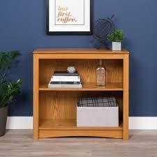 Sauder Premier 5 Shelf Composite Wood Bookcase by Prepac Oak Open Bookcase Odl 3229 The Home Depot
