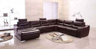 Large Leather Sofa Large Spacious Italian Leather Sectional Sofa In Brown San