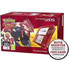 nintendo 2ds transparent red pokémon omega ruby games consoles