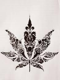 tribal marijuana leaf by cuba12 tattooed marijuana