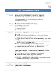 Cosmetology Resume Objective Beautician Resume 18 Sample Resume Objectives Free Sample Example