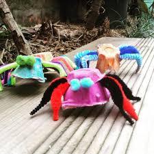 make egg carton spiders kids craft box for monkeys